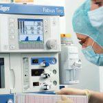Оснащение операционного блока: наркозно-дыхательный аппарат Дрегер